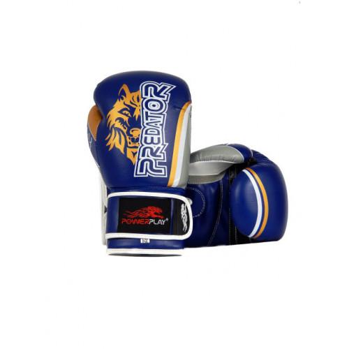 Боксерские перчатки PowerPlay Wolf - Predator series (3005) Blue 14 oz